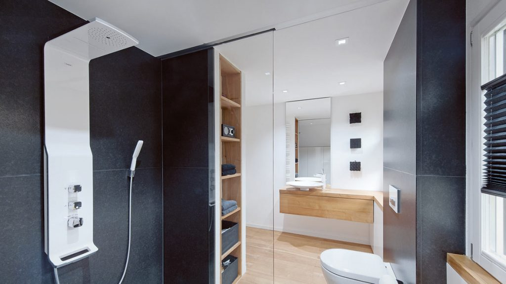 Ein Duschpaneel kann das Duscherlebnis erhöhen.